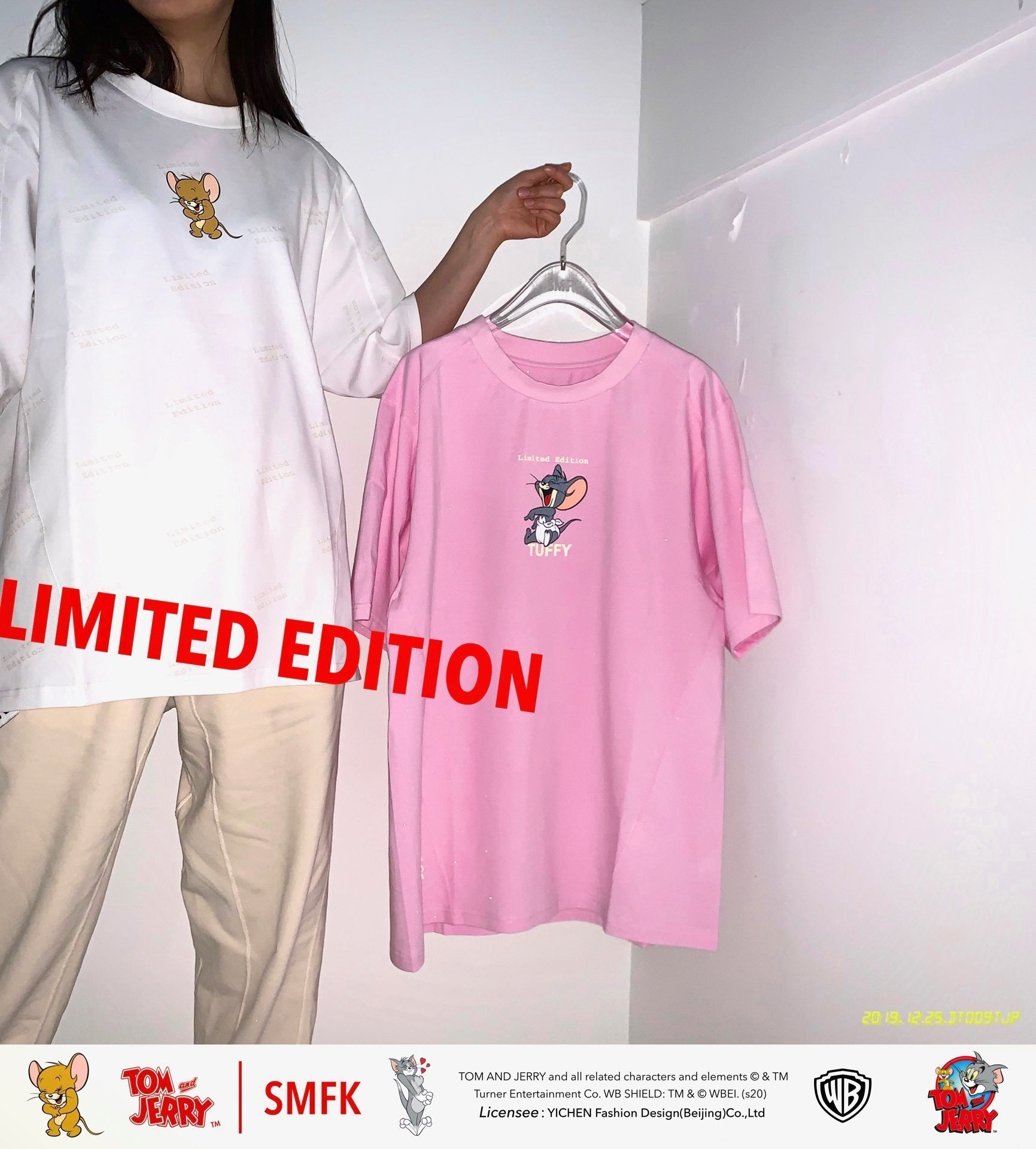 SMFK 'Tom&jerry' Tee Shirt Pink | MADA IN CHINA