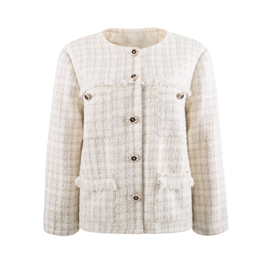 HERLIAN Tweed Cardigan Jacket | MADA IN CHINA