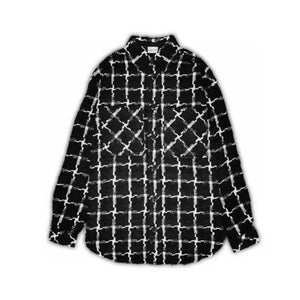 CHARLIE LUCIANO Tweed Overshirt Black | MADA IN CHINA