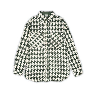 CHARLIE LUCIANO Tweed Overshirt Green | MADA IN CHINA