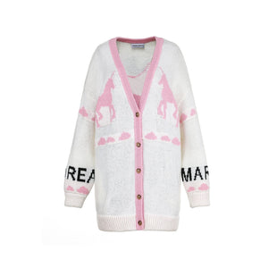 ANDREA MARTIN Unicorn Knitted Cardigan | MADA IN CHINA