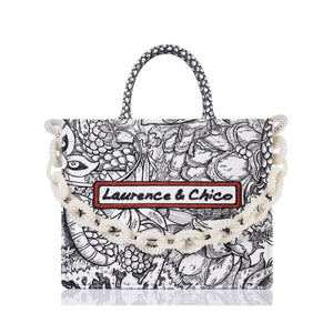 Laurence & Chico Van Dusen Garden Embroidery Tote Large | MADA IN CHINA