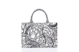 Laurence & Chico Van Dusen Garden Embroidery Tote Medium | MADA IN CHINA