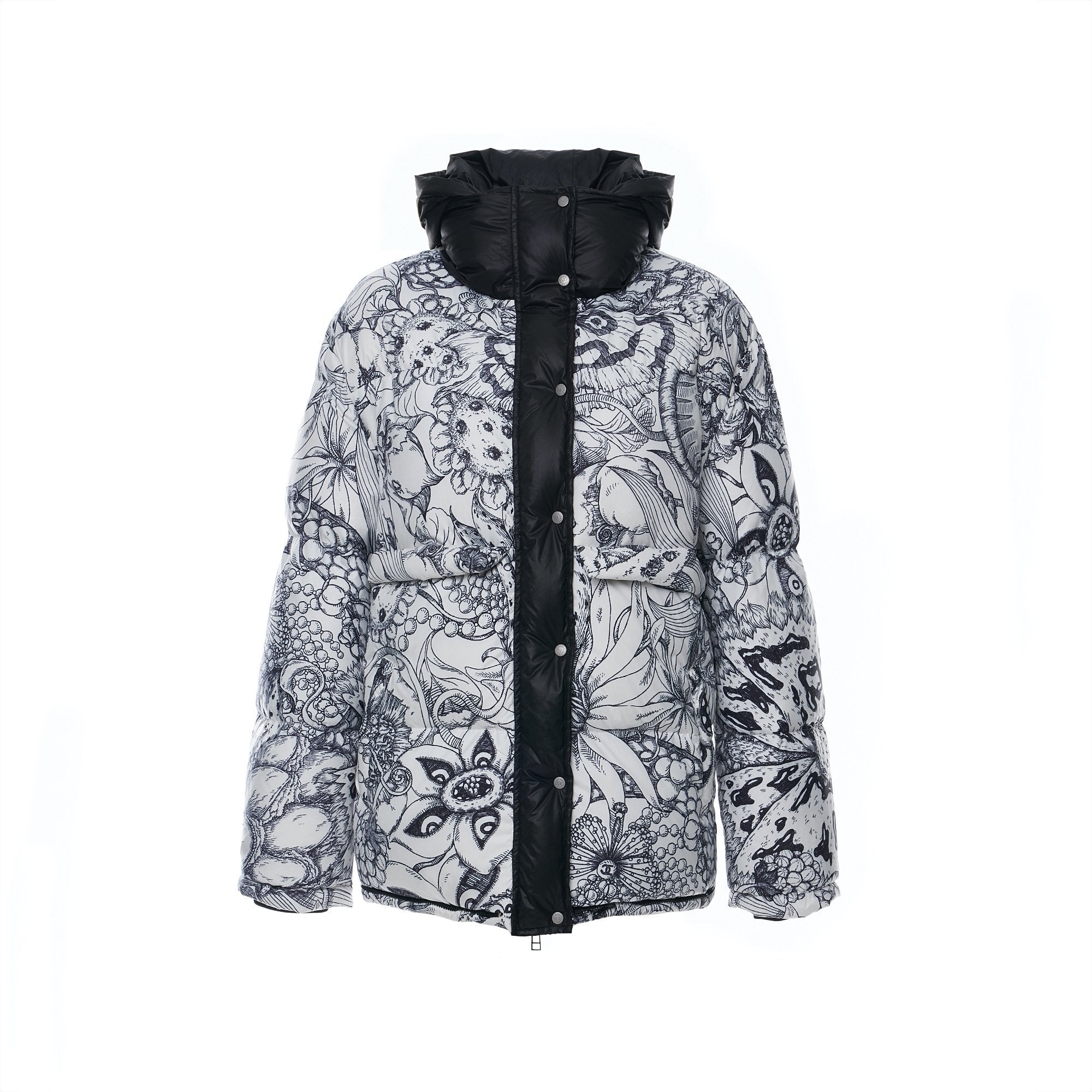 Laurence & Chico Van Dusen Garden Print Puffer Jacket | MADA IN CHINA