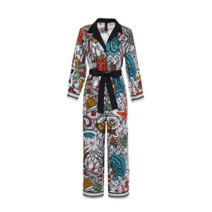 Laurence & Chico Van Dusen Garden Print Silk Jumpsuit | MADA IN CHINA