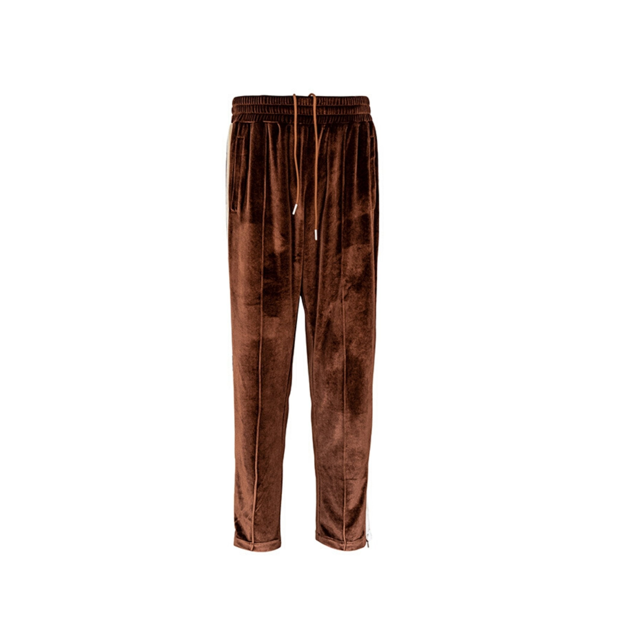 CHARLIE LUCIANO Velvet Pants Brown | MADA IN CHINA