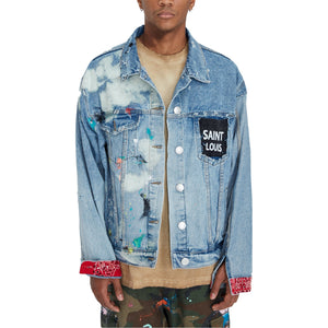 SAINT LOUIS Vintage Bandana Denim Jacket | MADA IN CHINA