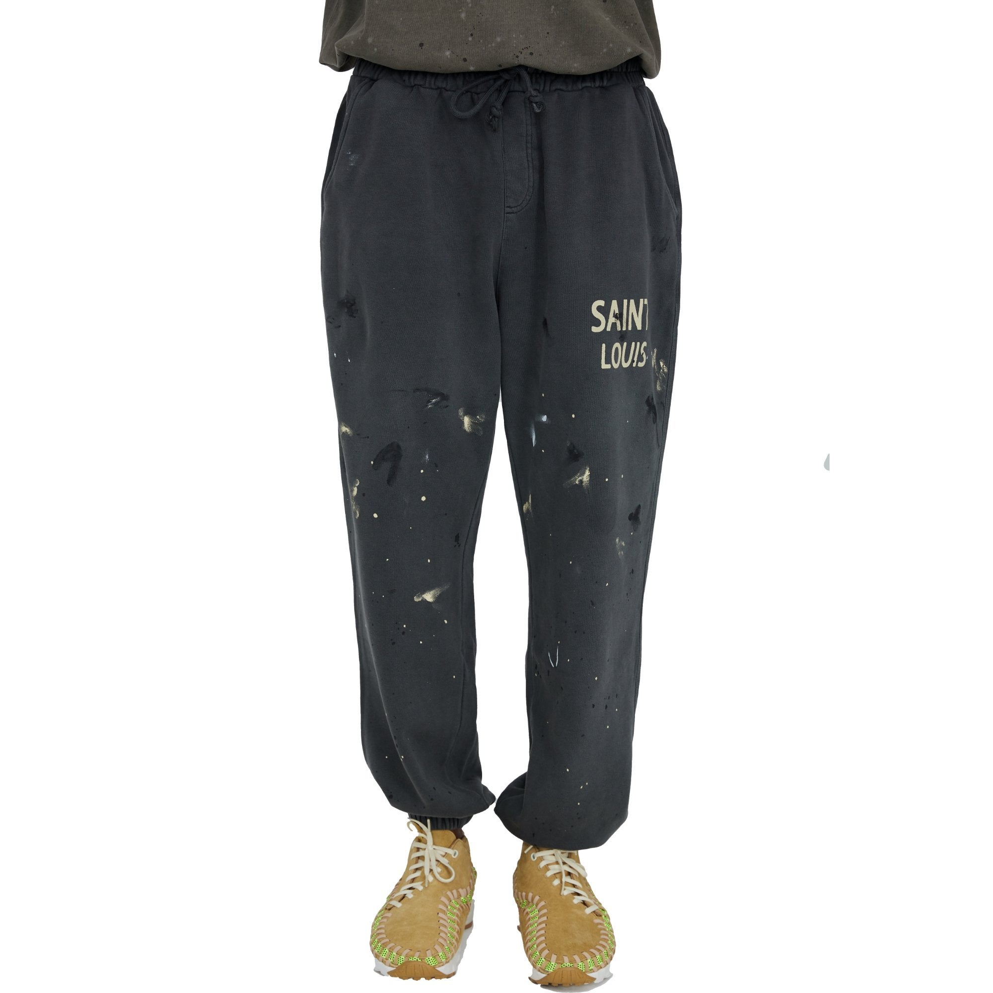 SAINT LOUIS Vintage Black Sweat Pant | MADA IN CHINA