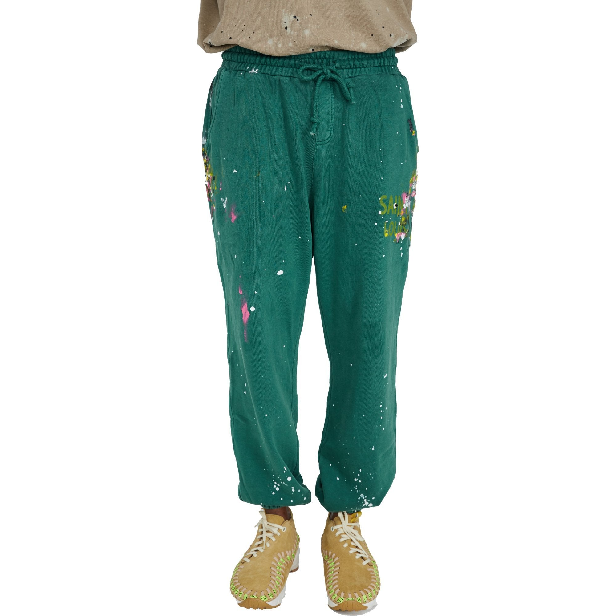 SAINT LOUIS Vintage Green Sweat Pant | MADA IN CHINA