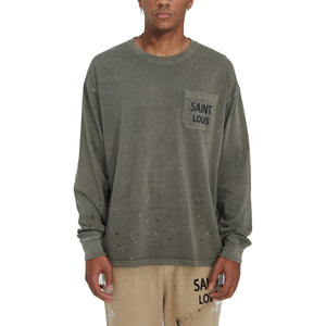 SAINT LOUIS Vintage Olive Long Sleeve | MADA IN CHINA