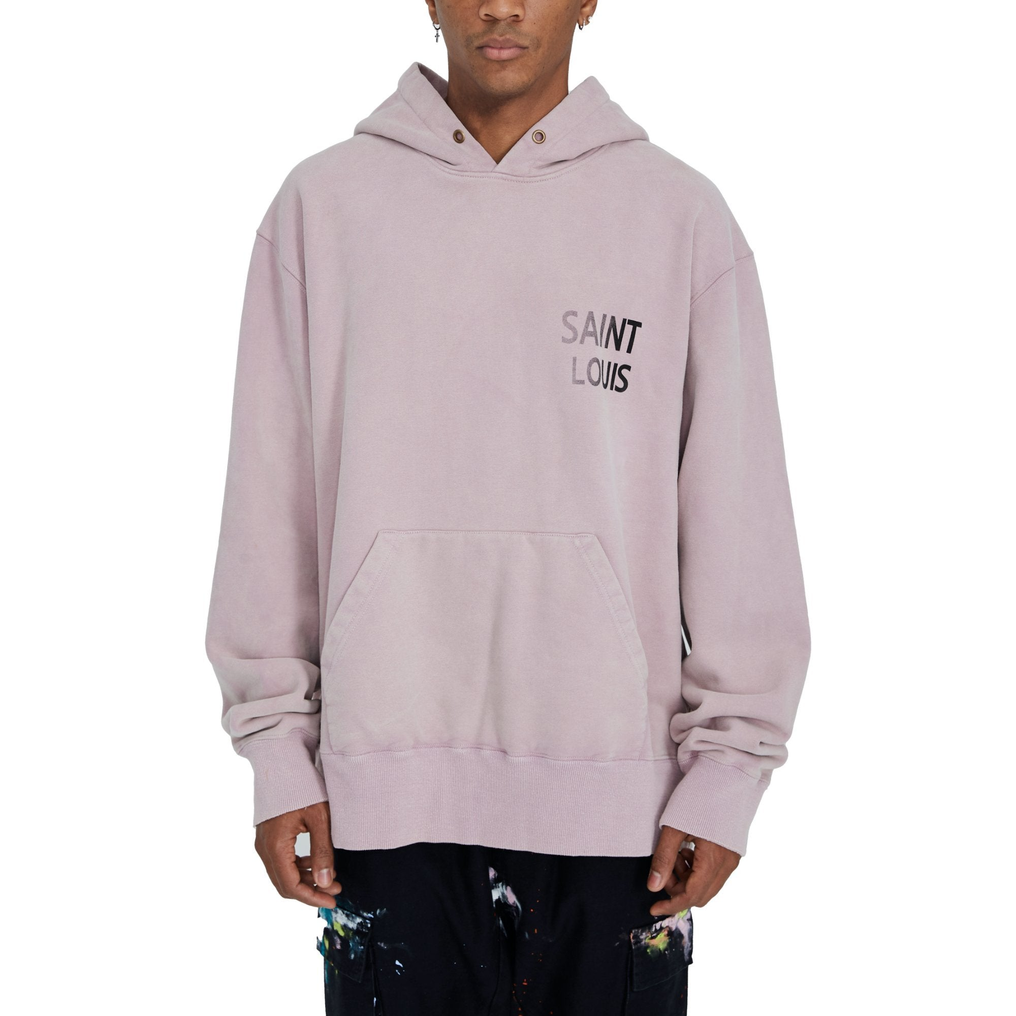 SAINT LOUIS Vintage Pink Object Dyded Hoodie | MADA IN CHINA