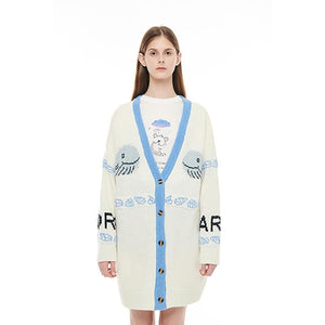 ANDREA MARTIN Whale Knitted Cardigan | MADA IN CHINA