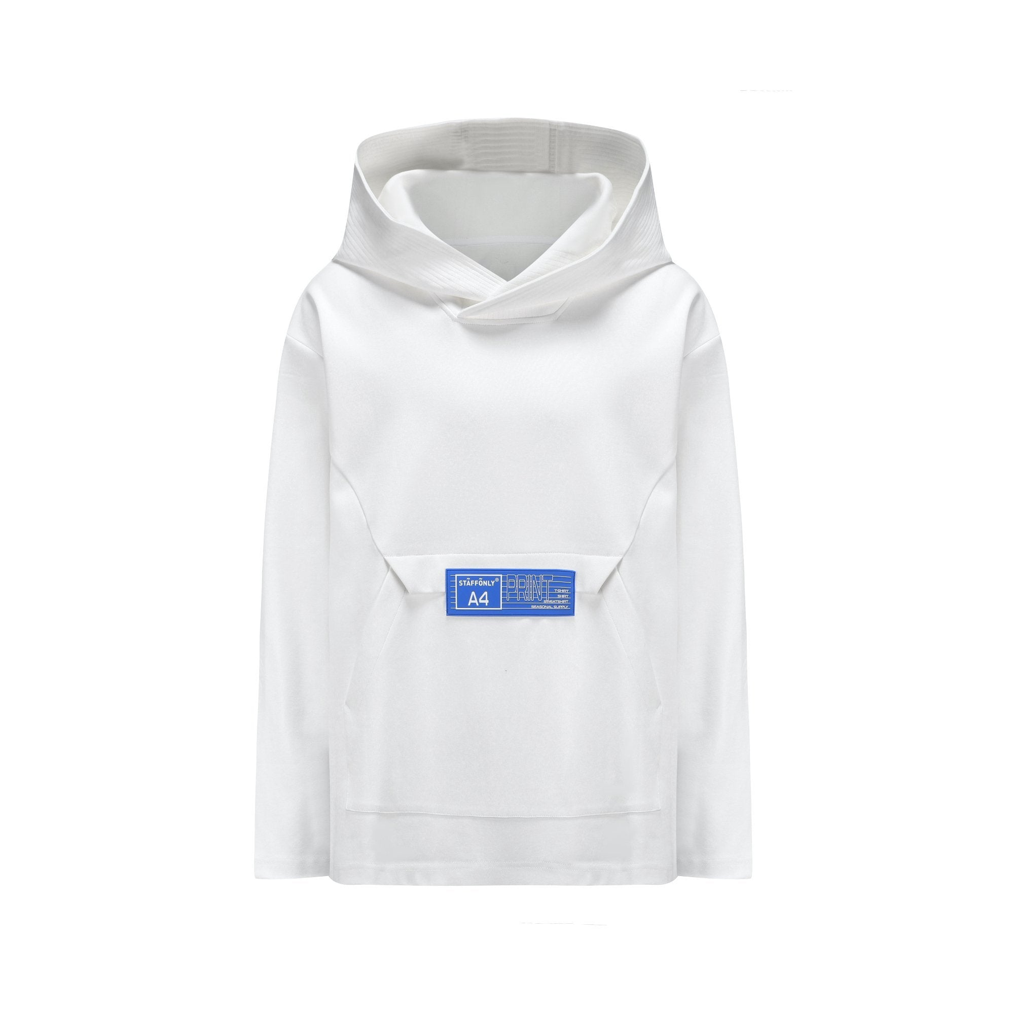 STAFF ONLY White A4-Box Hoodie | MADA IN CHINA