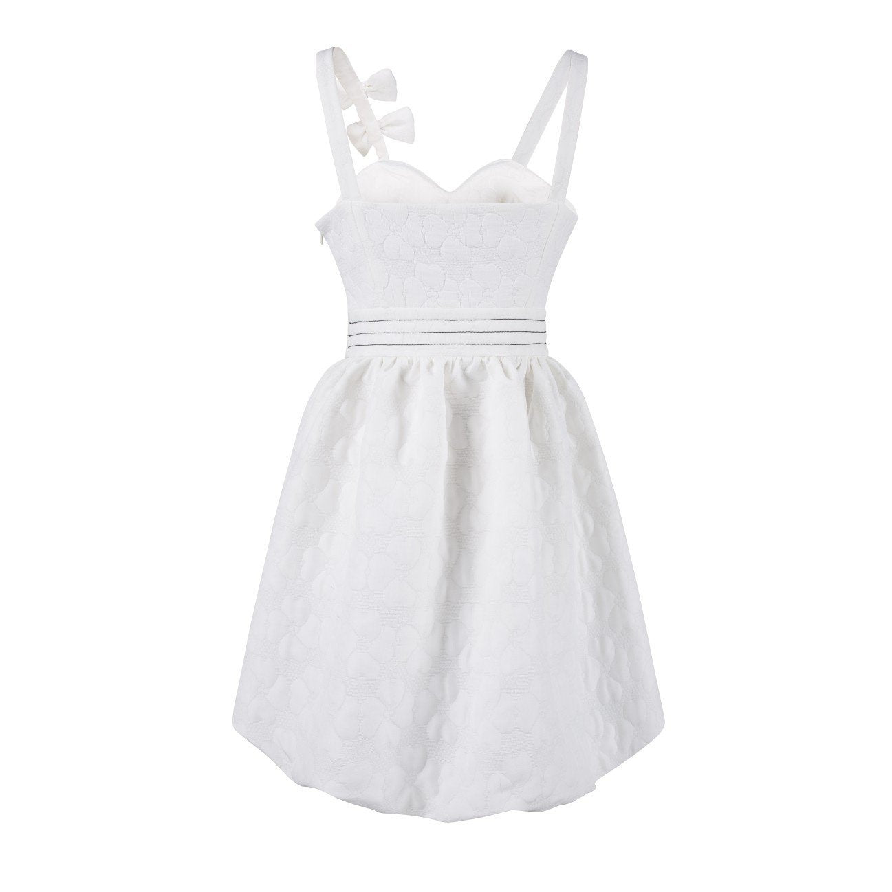 VIAS HERLIAN White Bowknot Slip Dress | MADA IN CHINA
