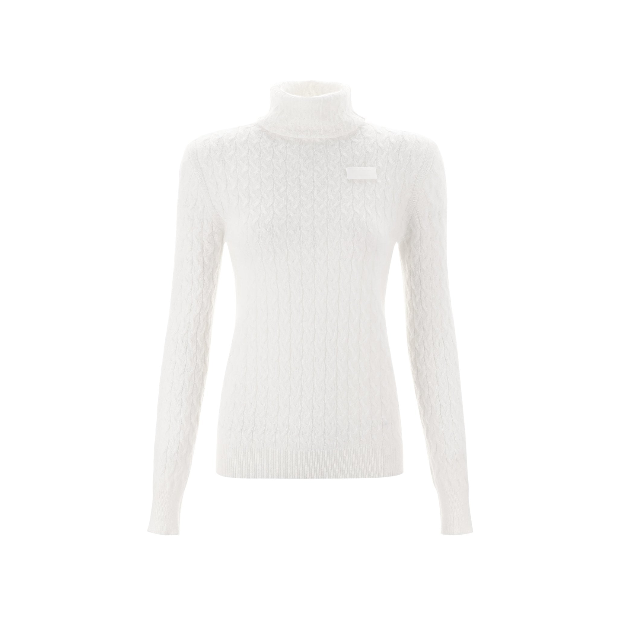 WARM AID White Cashmere Turtleneck Sweater | MADA IN CHINA