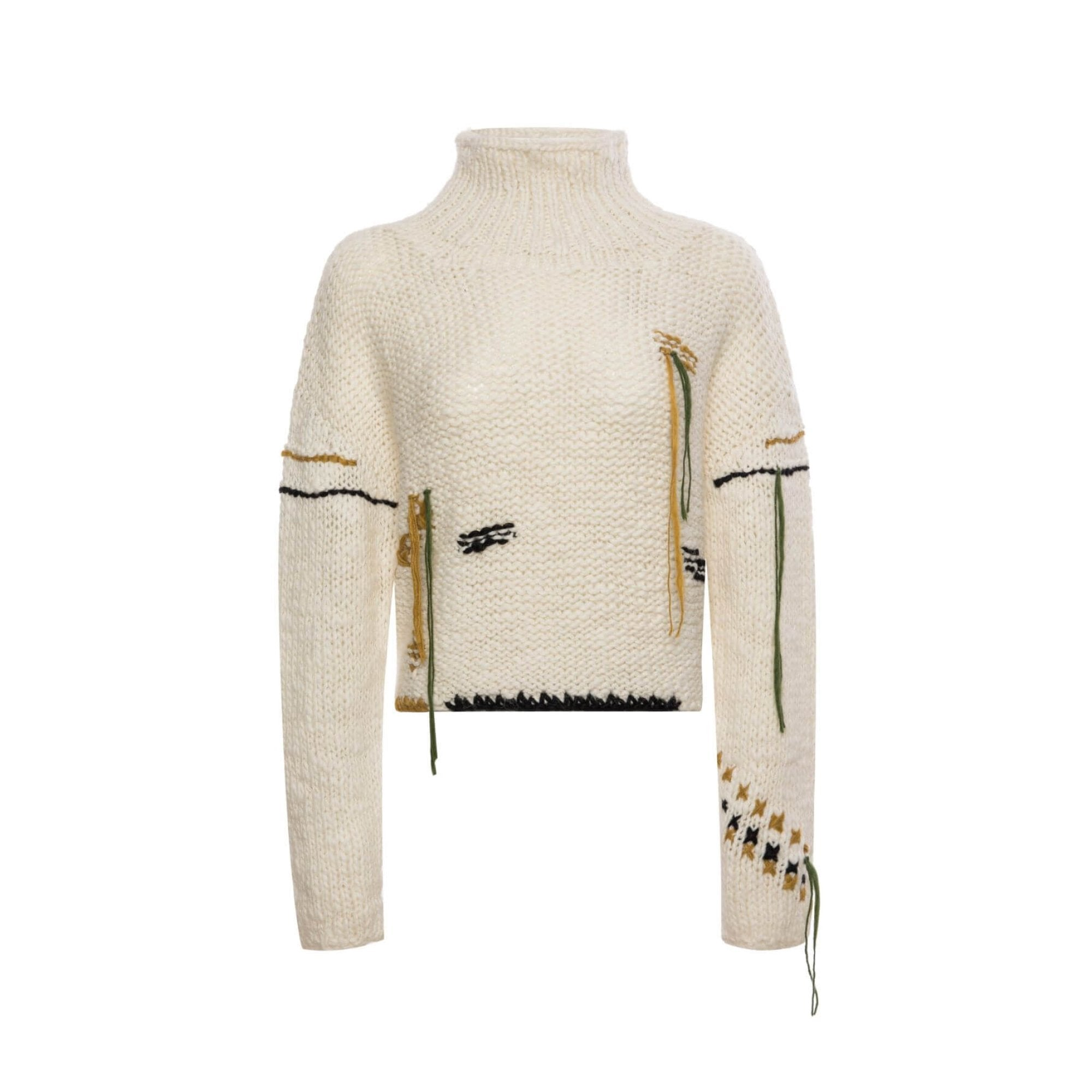 DIANA VEVINA White Crochet Sweatshirt | MADA IN CHINA