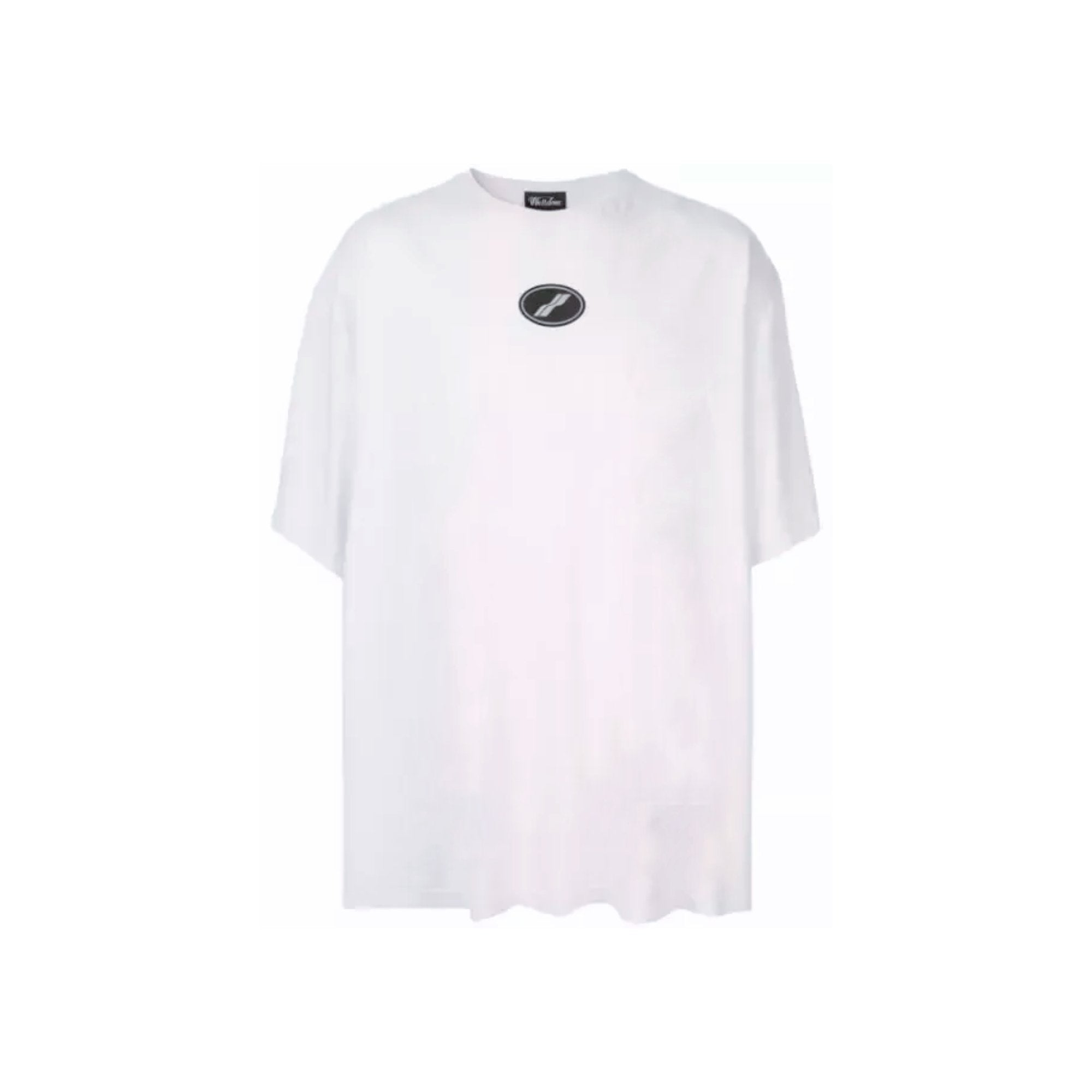 WE11DONE White Dirty Logo Tee | MADA IN CHINA