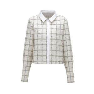 ANDREA MARTIN White Dot Patch Jacket | MADA IN CHINA
