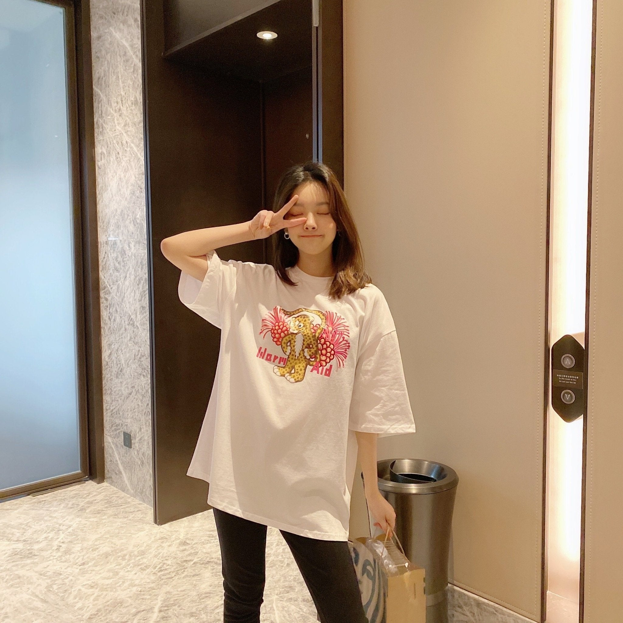 WARM AID White Dragonfly Tee | MADA IN CHINA