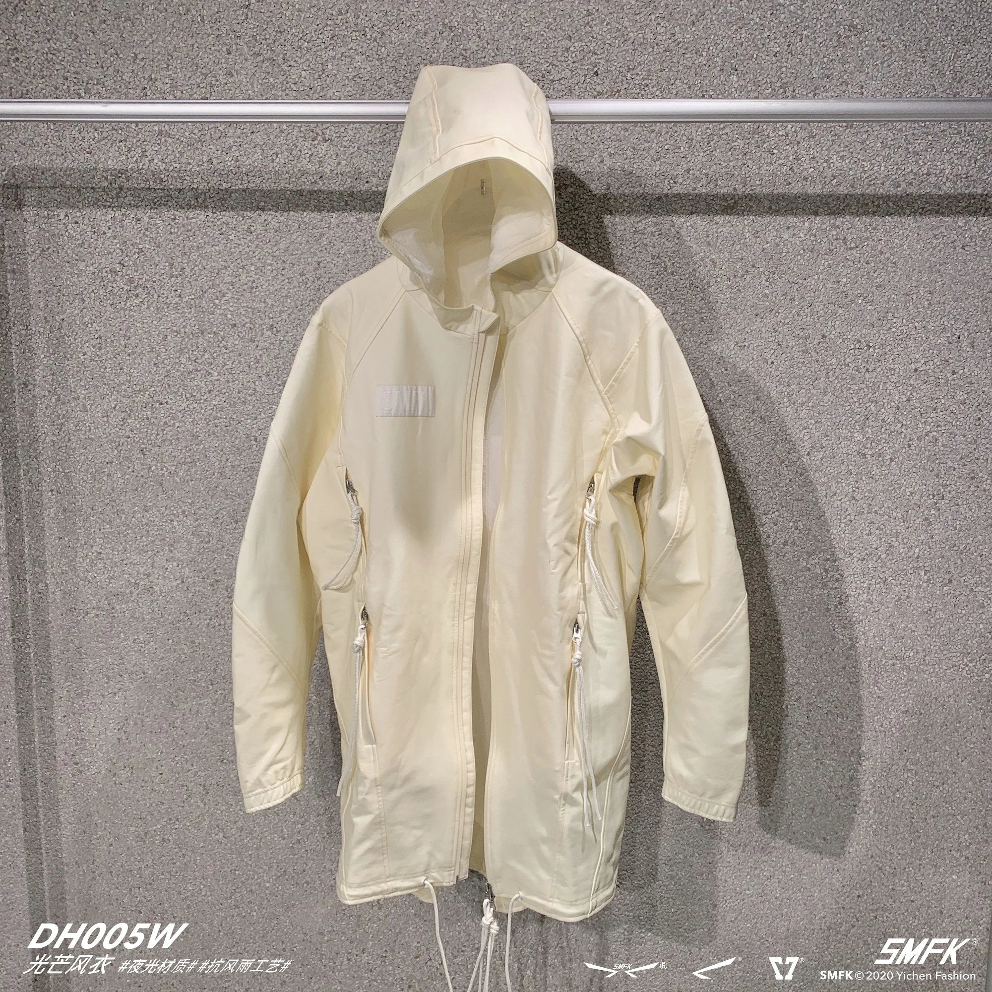 SMFK White Glow Trench Coat | MADA IN CHINA
