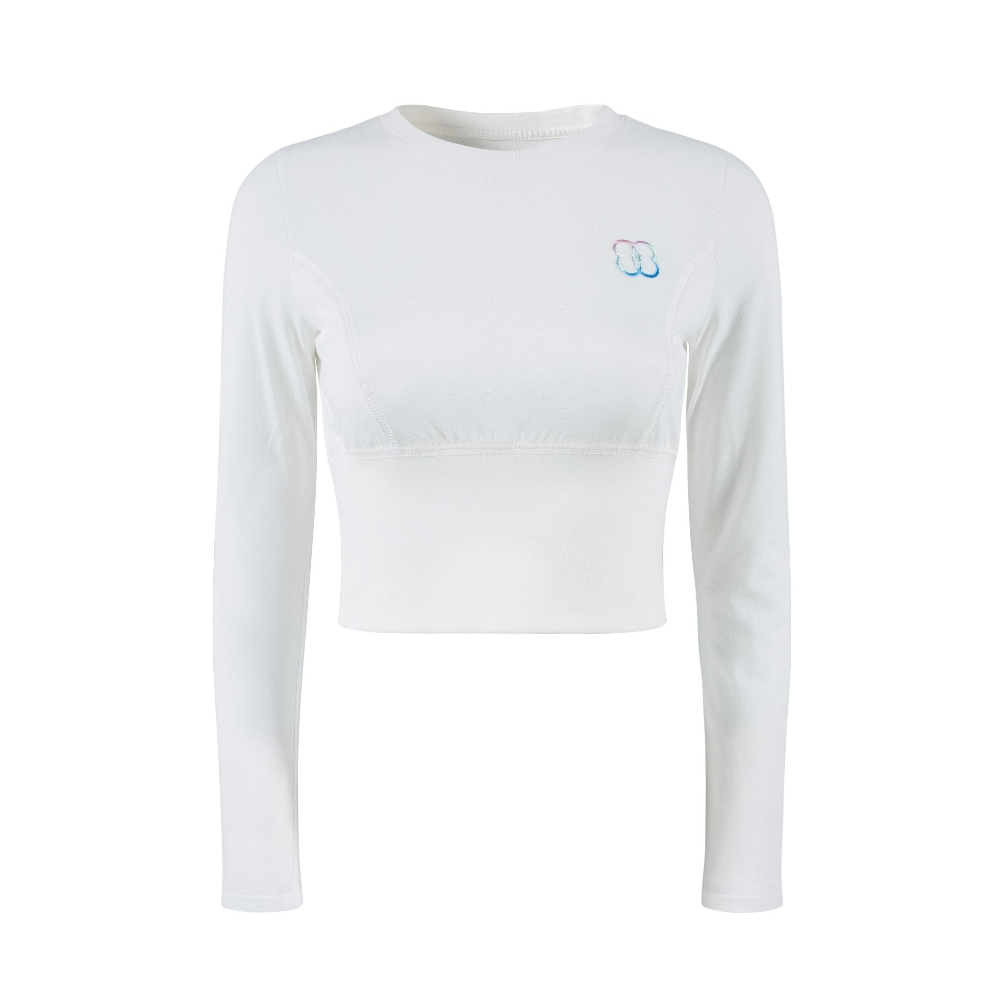 HERLIAN White Gradient Logo Cinched Top | MADA IN CHINA