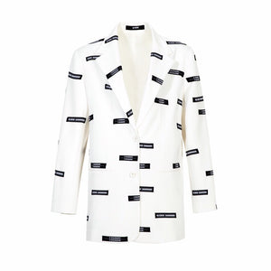 40 CREW White Lead Blazer Jacket | MADA IN CHINA