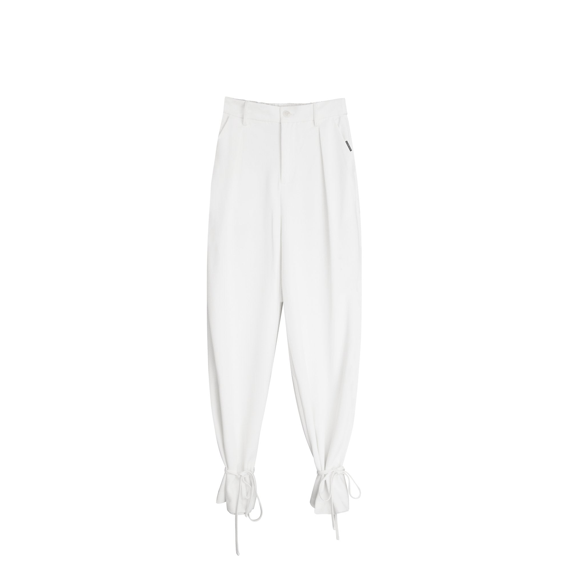 AIMME SPARROW White Logo Suit Pants | MADA IN CHINA