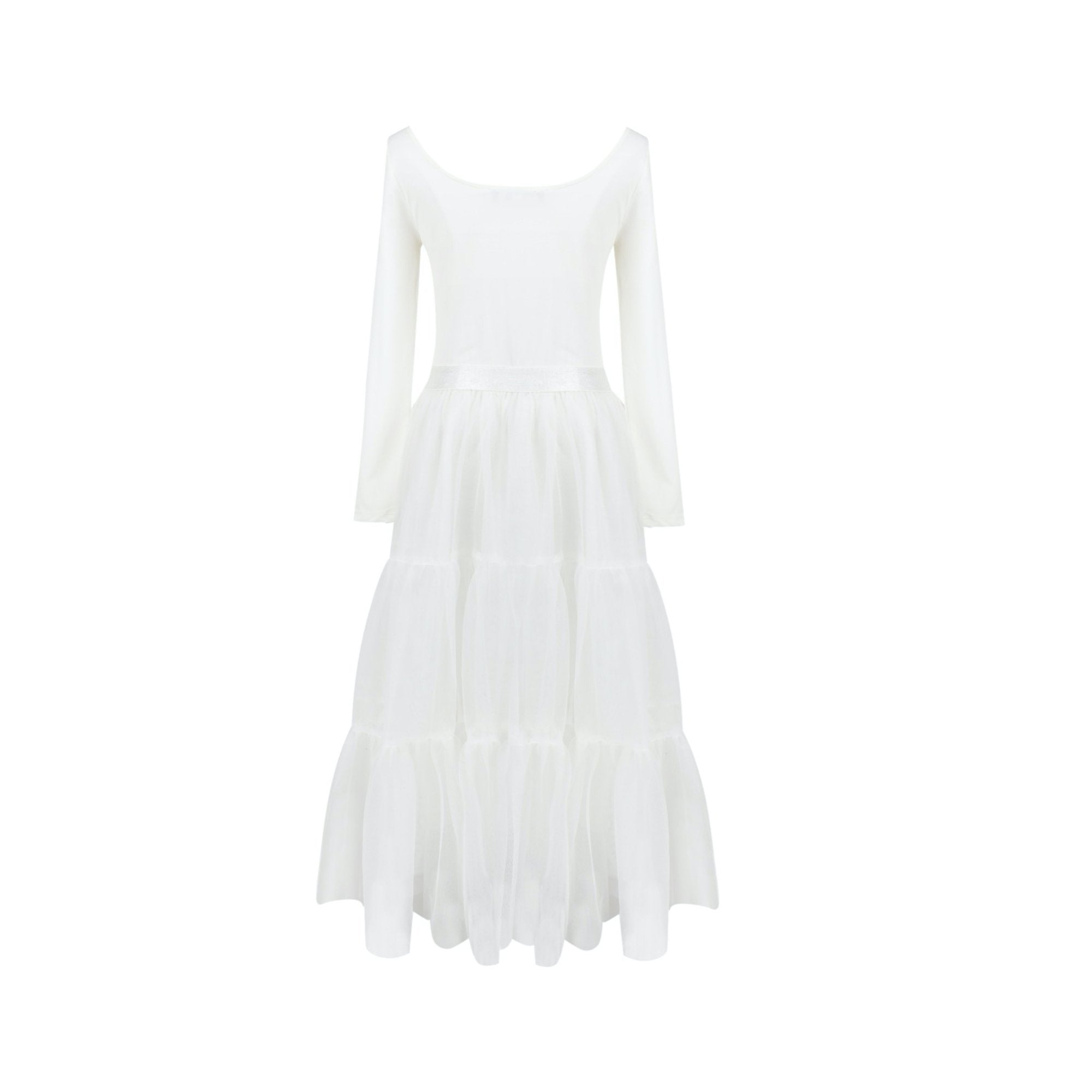 SASA MAX White Mesh Dress | MADA IN CHINA