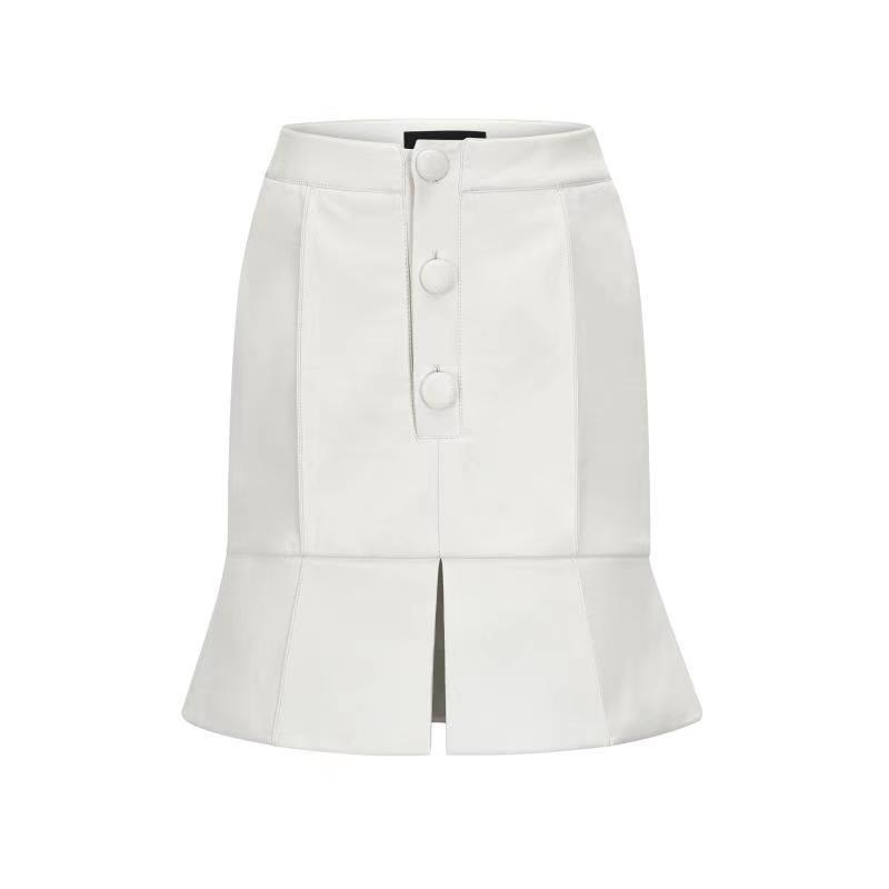 THREE QUARTERS White Misplaced Construction Skirt | MADA IN CHINA
