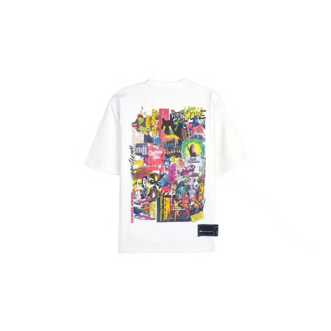 WE11DONE White Movie Collage Tee | MADA IN CHINA