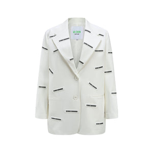 40 CREW White New Full Label Blazer Jacket | MADA IN CHINA
