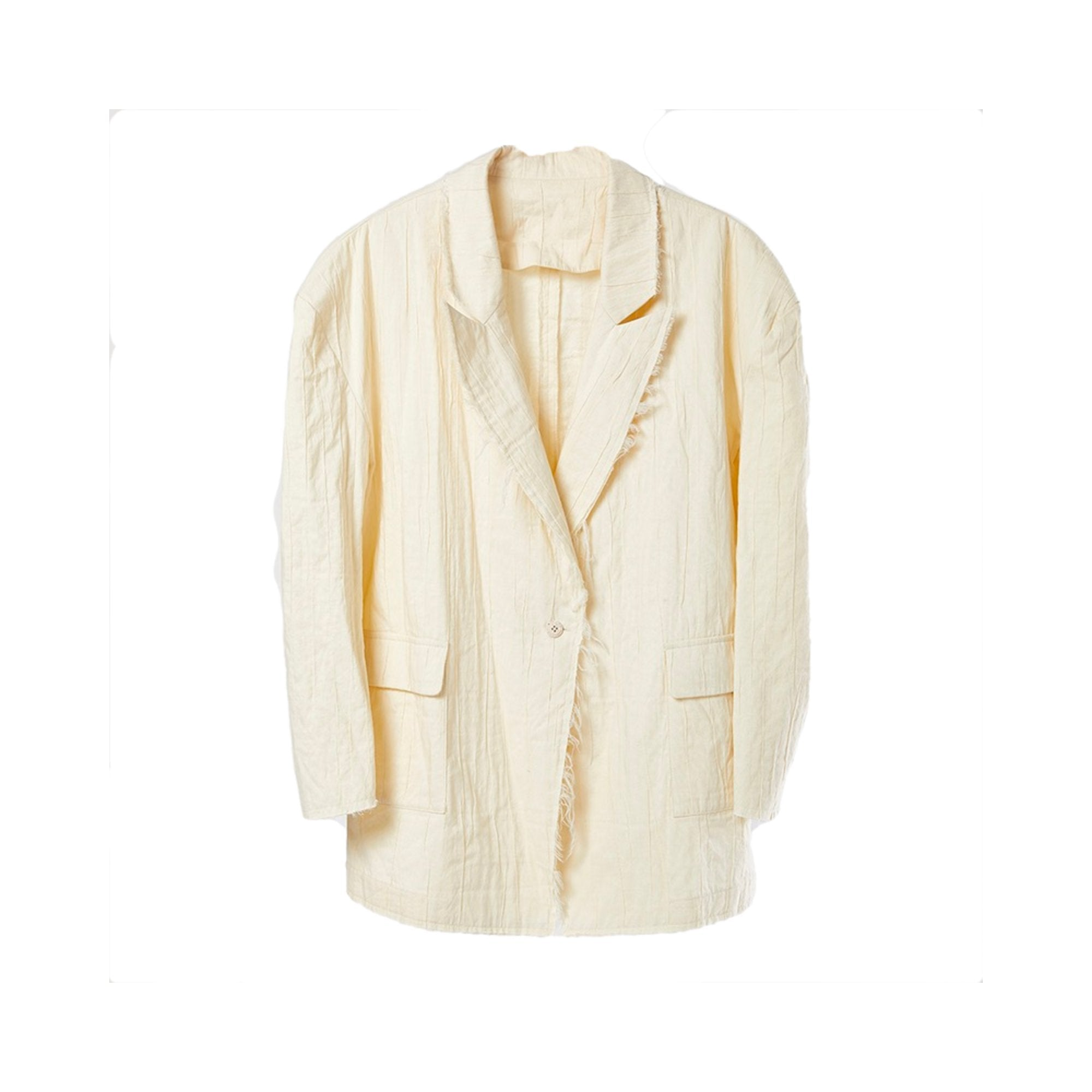 ELYWOOD White Oversized Blazer Jacket | MADA IN CHINA