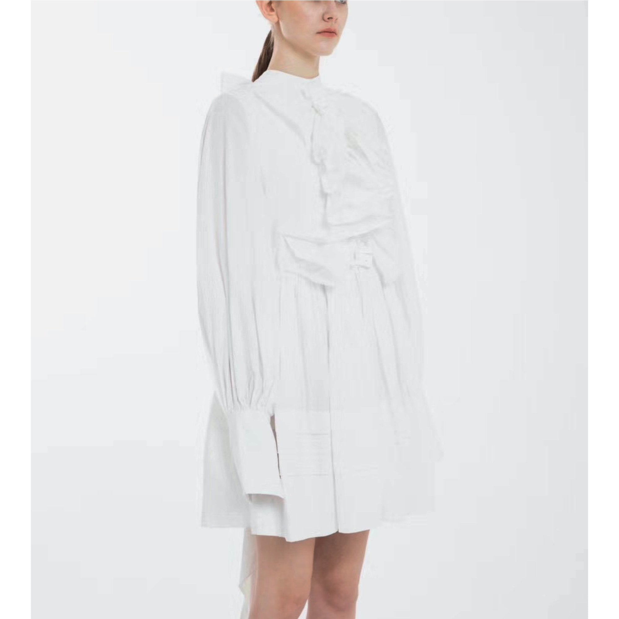 2208M DECAF White Oversized Shirt Dress | MADA IN CHINA