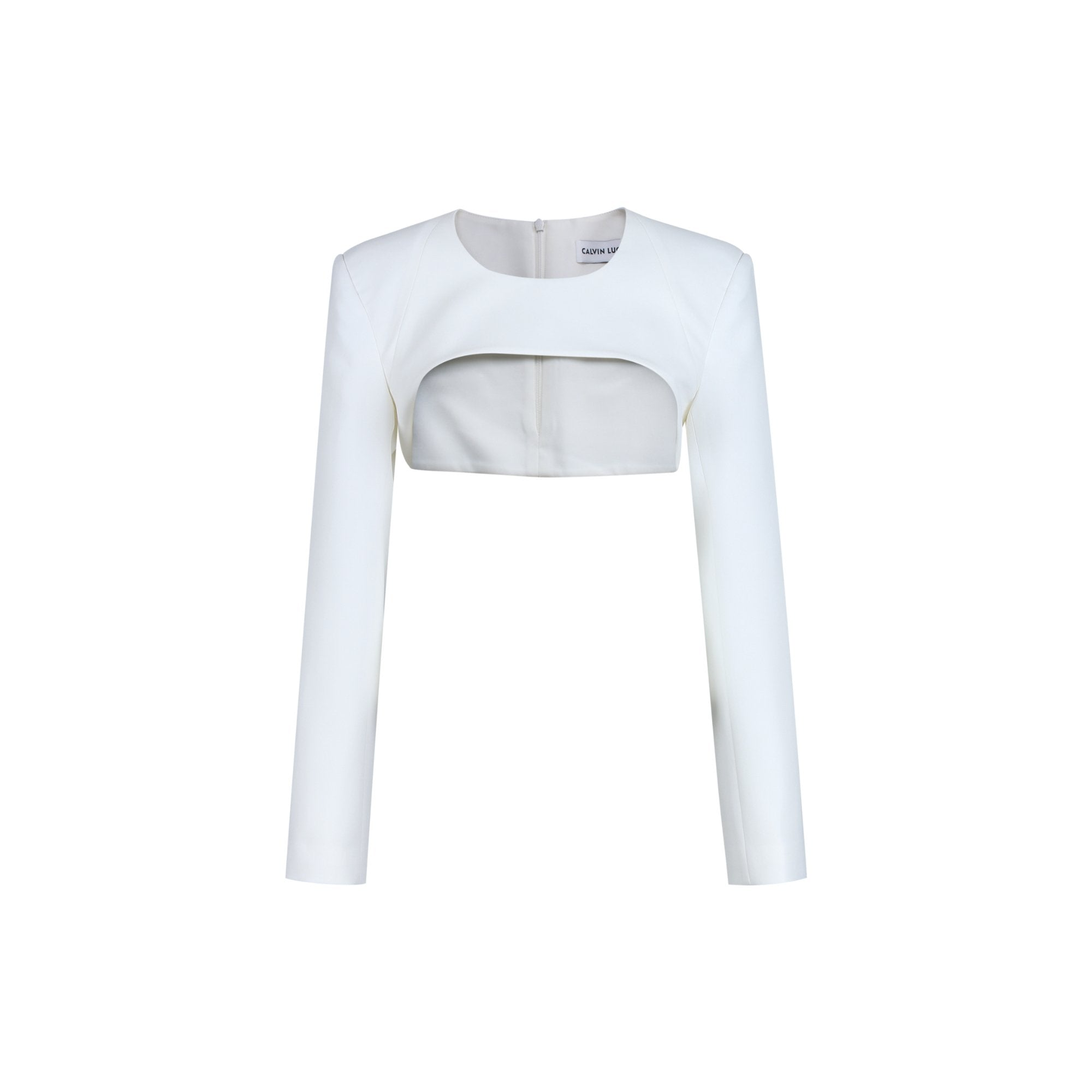 CALVIN LUO White Padded Sleeve Jacket | MADA IN CHINA