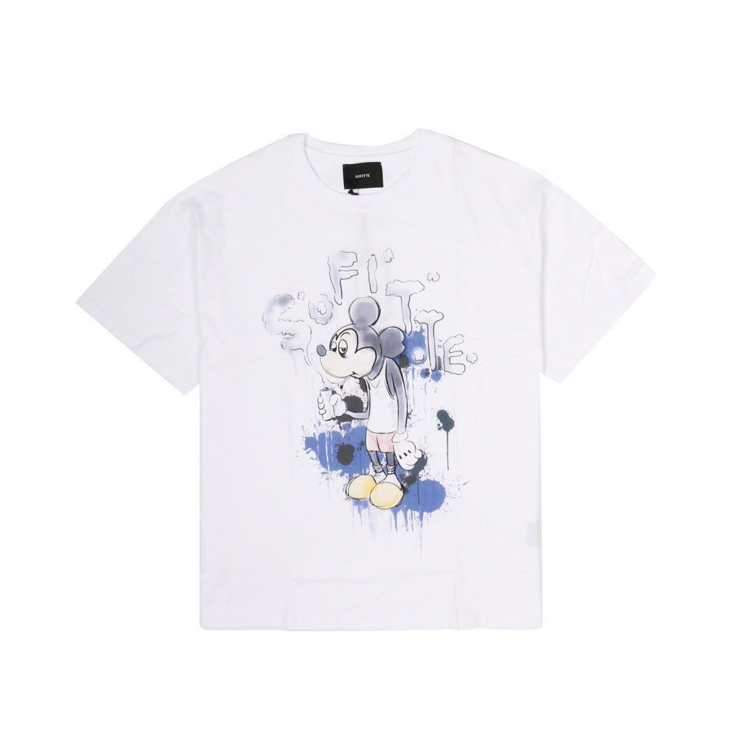 SOFITTE White Painted Mickey Tee | MADA IN CHINA