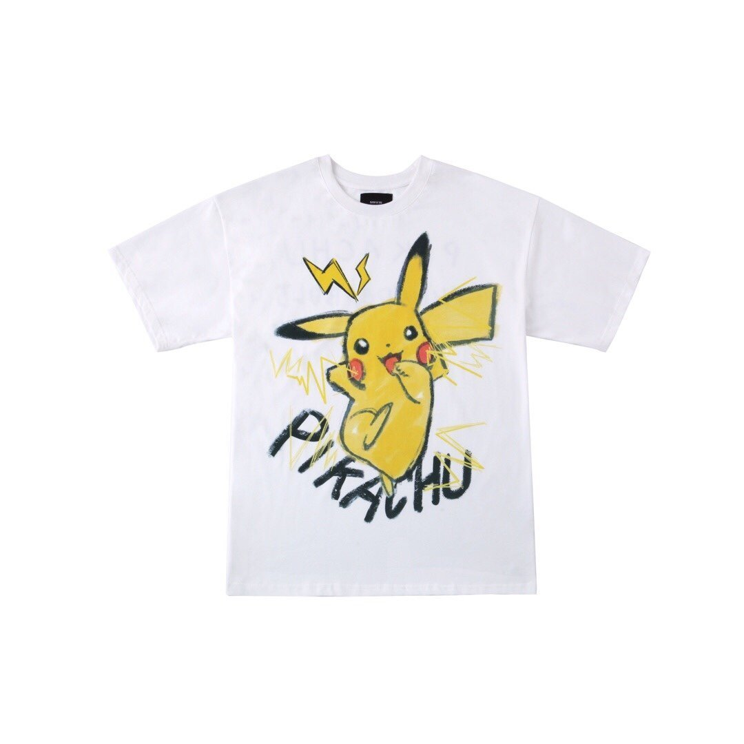 SOFITTE White Painted Pikachu Tee | MADA IN CHINA