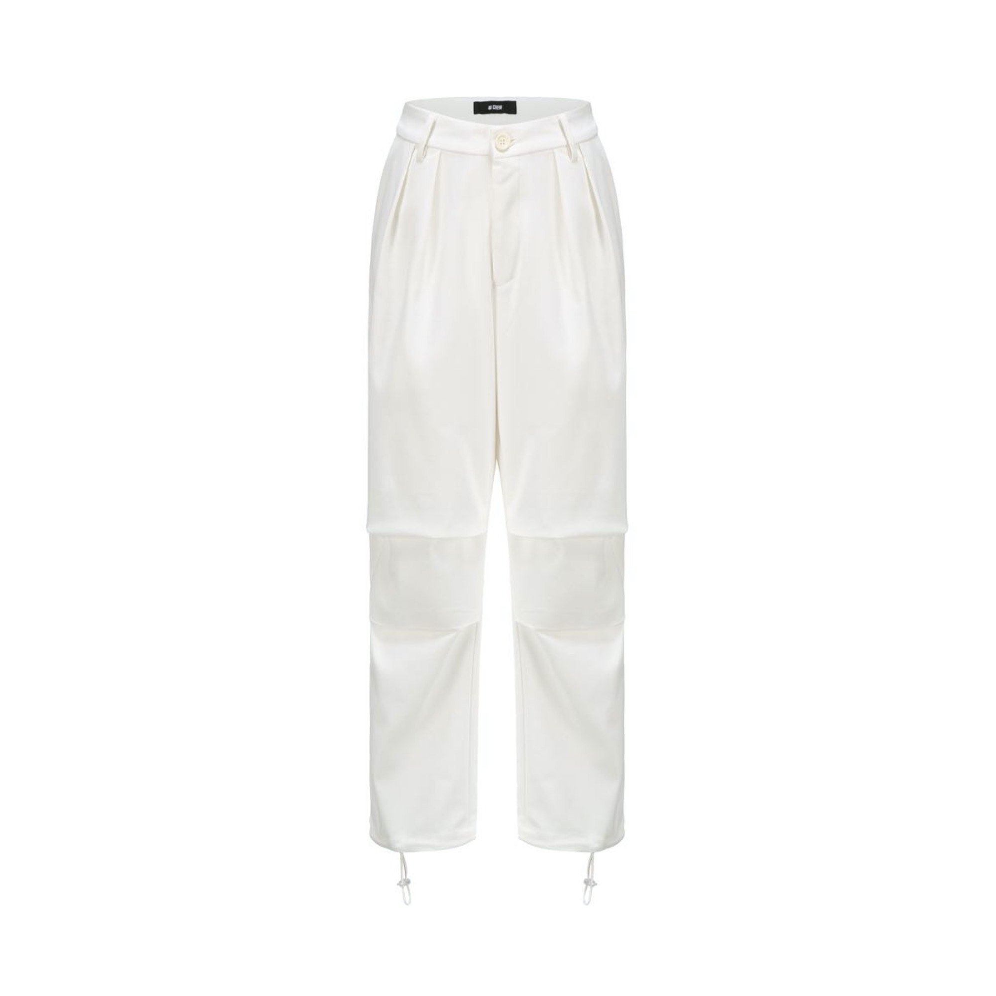 40 CREW White Panelled Suit Pant | MADA IN CHINA