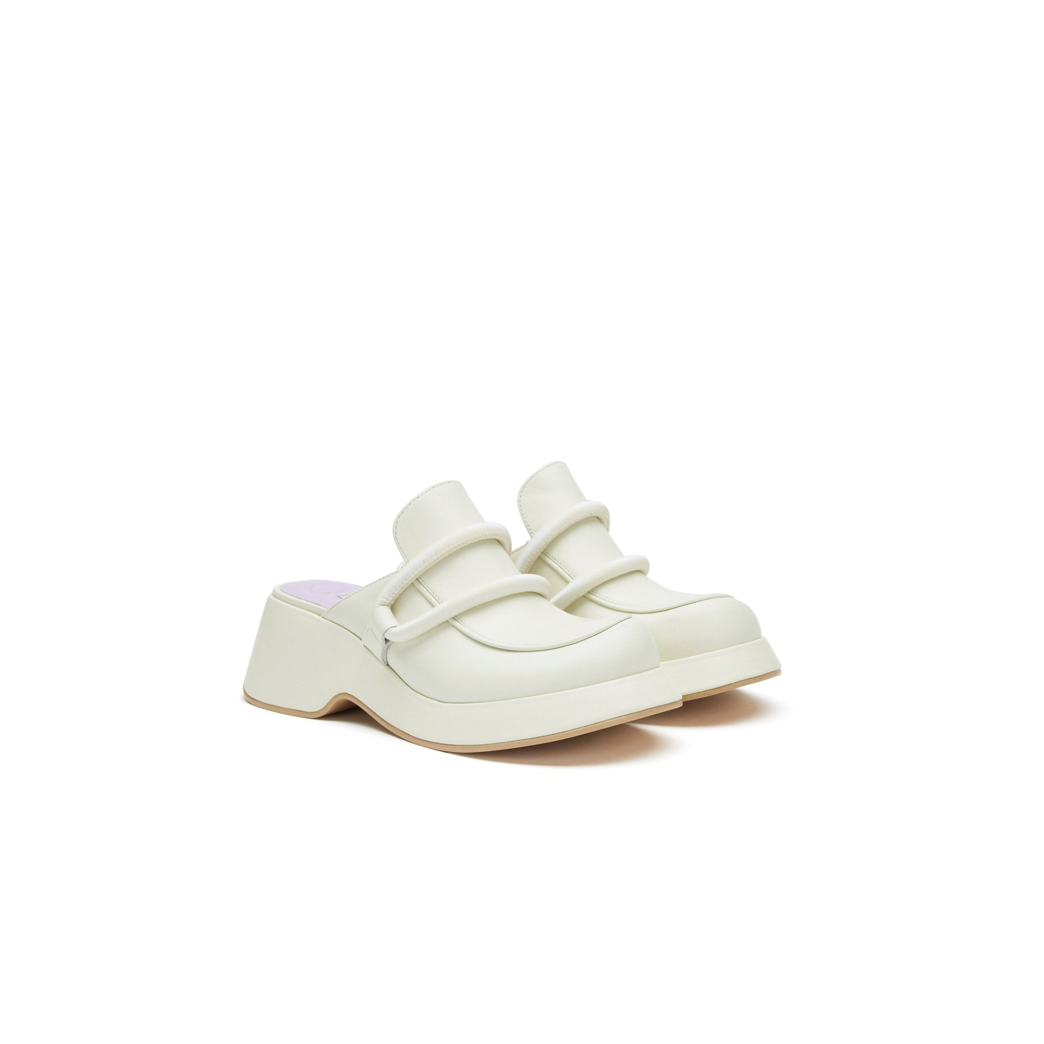 LOST IN ECHO White Platform Loafers | MADA IN CHINA