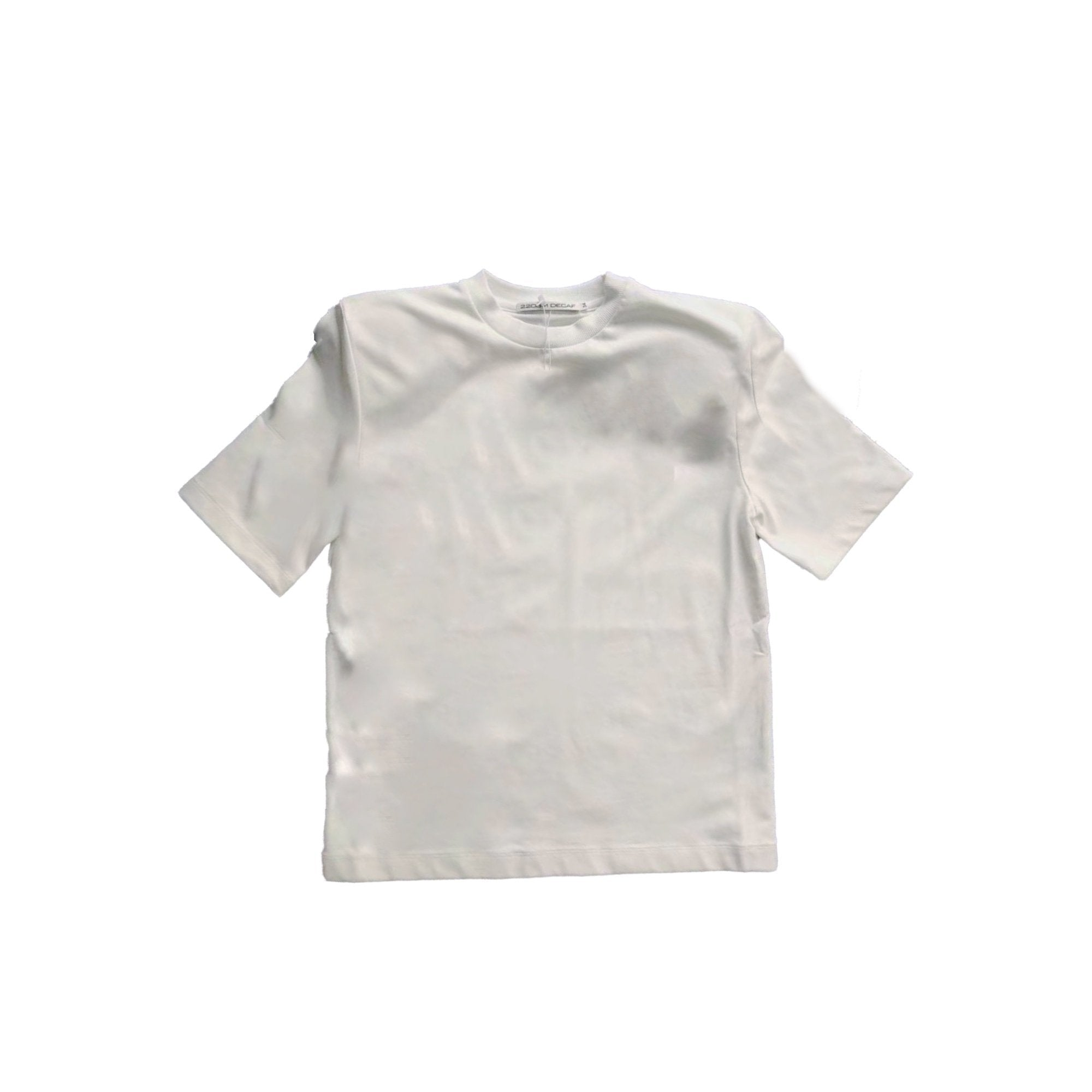 2208M DECAF White Shoulder Pads Tee | MADA IN CHINA
