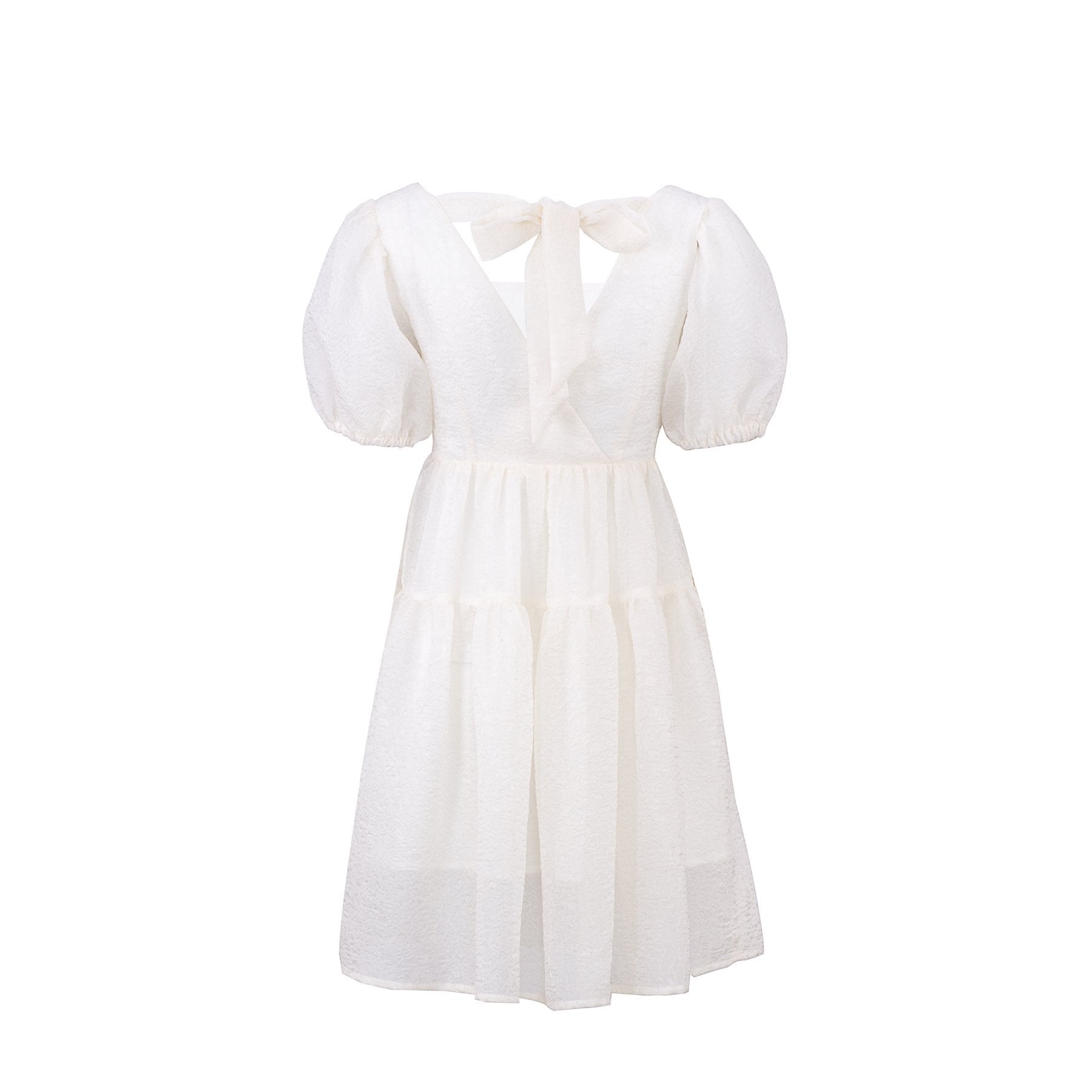 WARM AID White Silk A-Line Dress | MADA IN CHINA