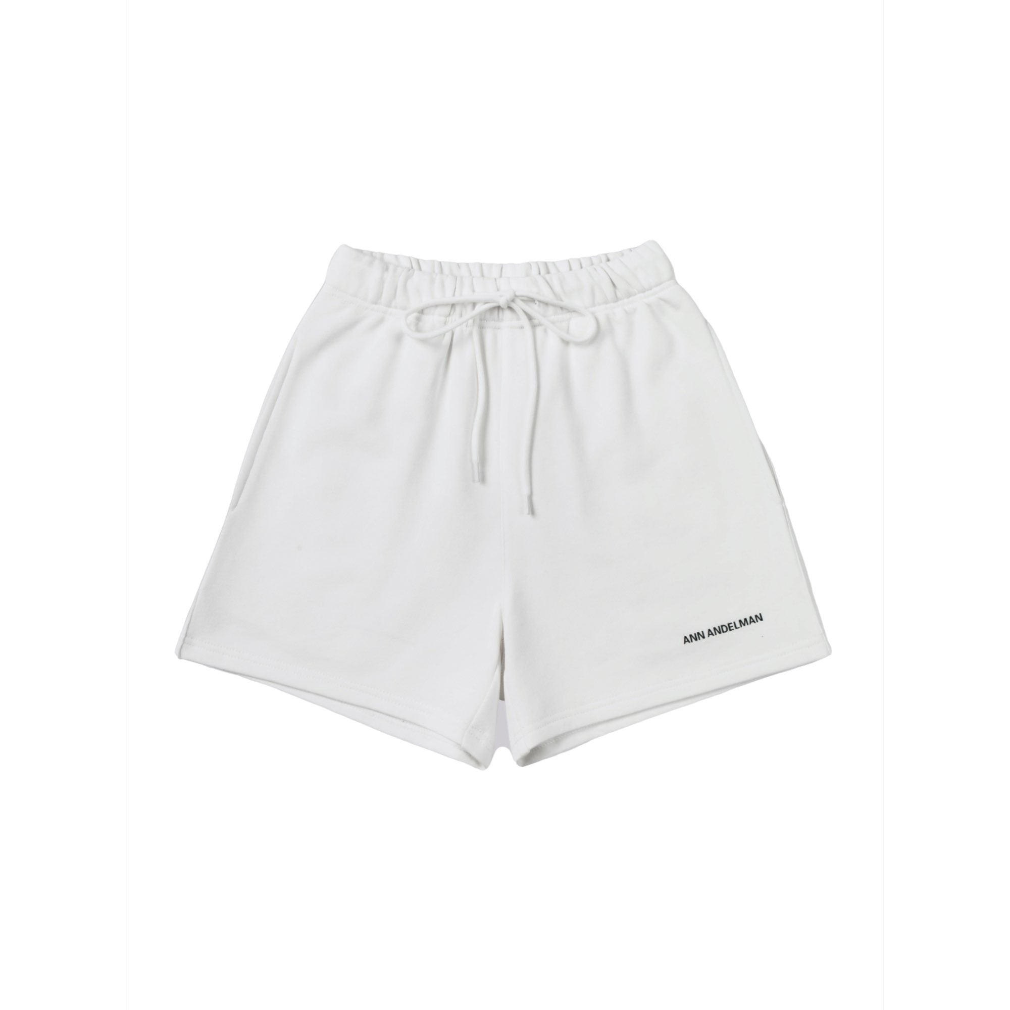 ANN ANDELMAN White Small Logo Shorts | MADA IN CHINA
