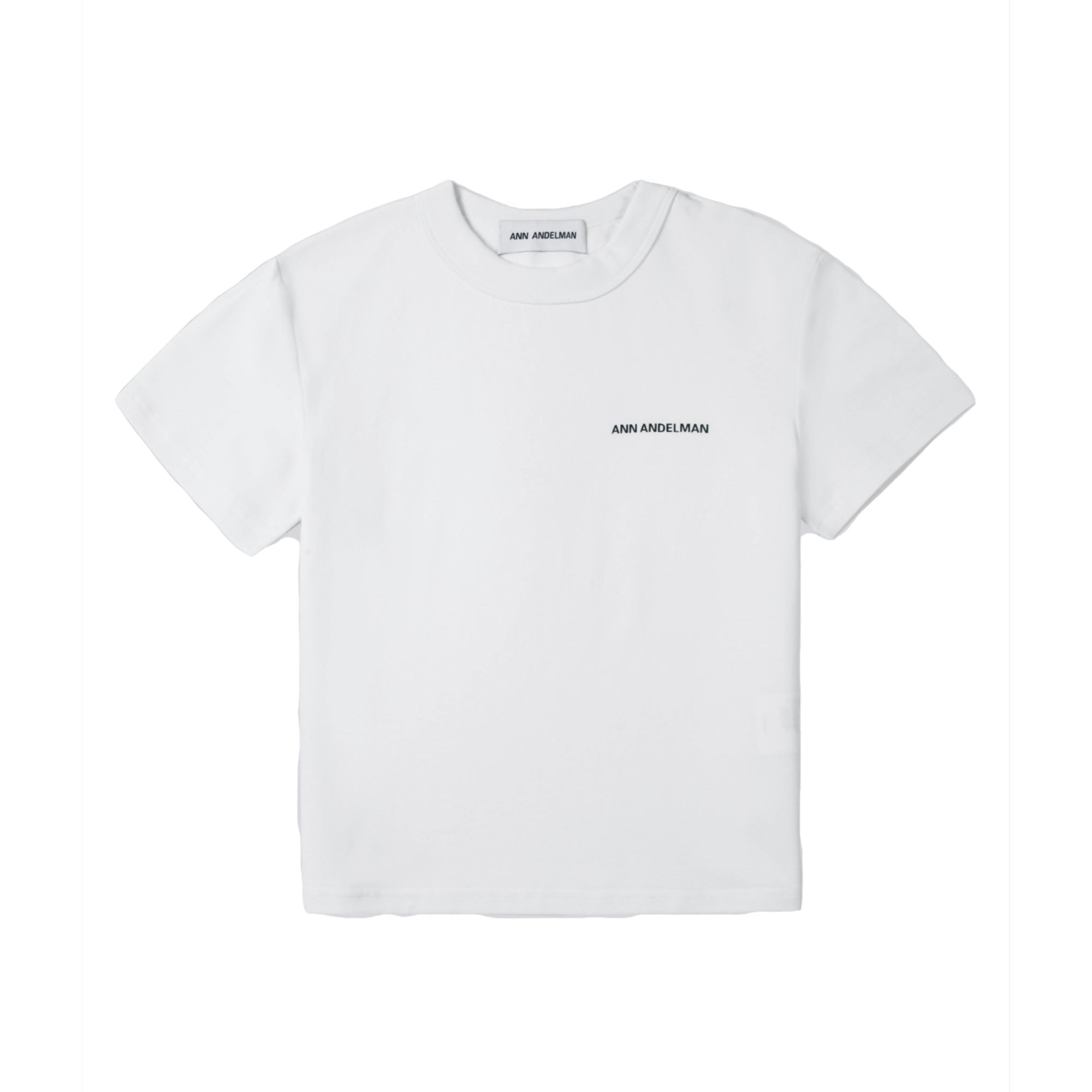ANN ANDELMAN White Small Logo Tee | MADA IN CHINA