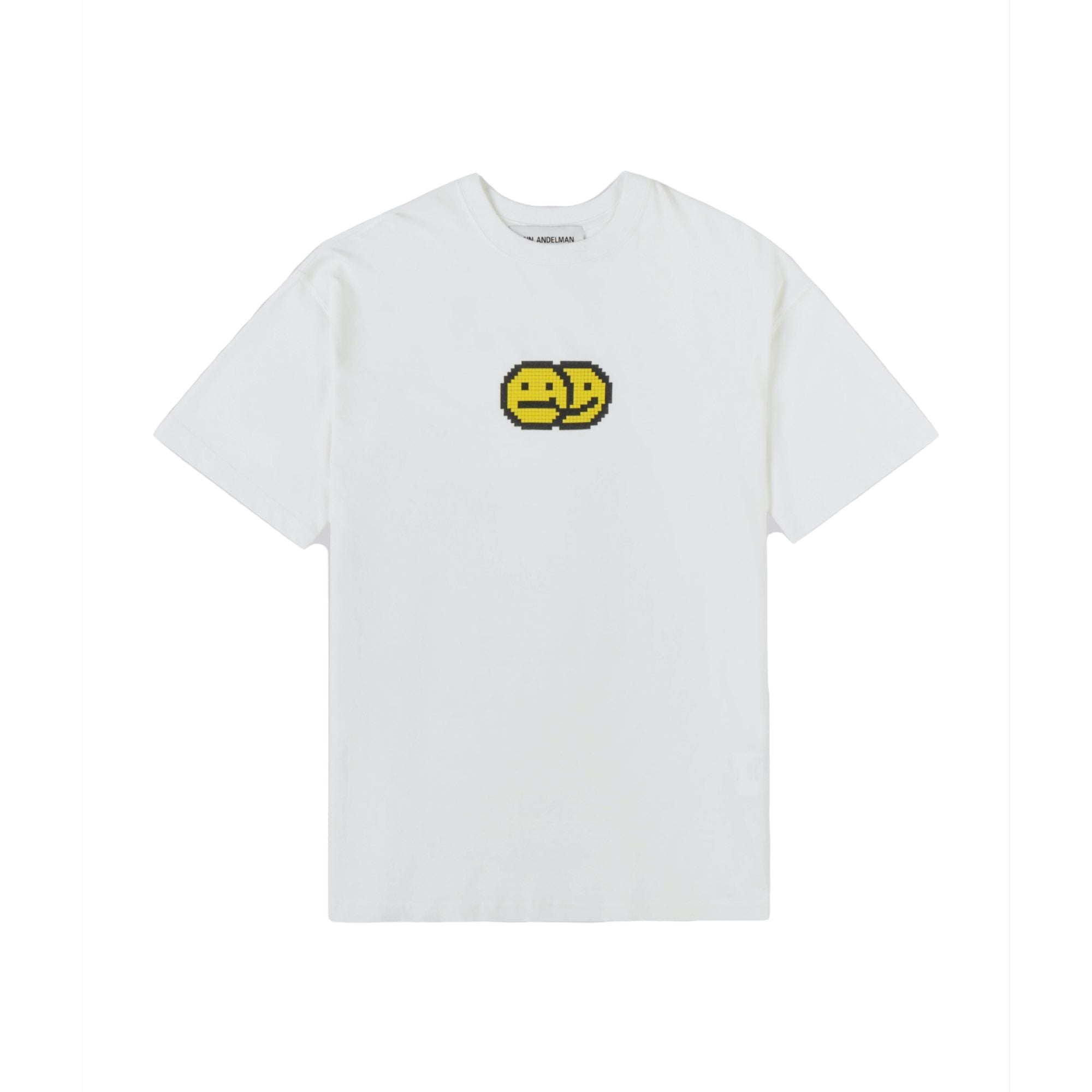 ANN ANDELMAN White Smiling Face Tee | MADA IN CHINA