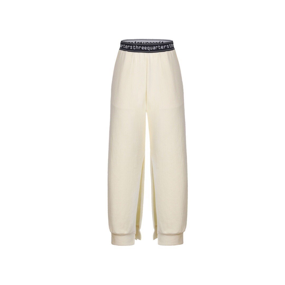 THREE QUARTERS White Split Pants | MADA IN CHINA