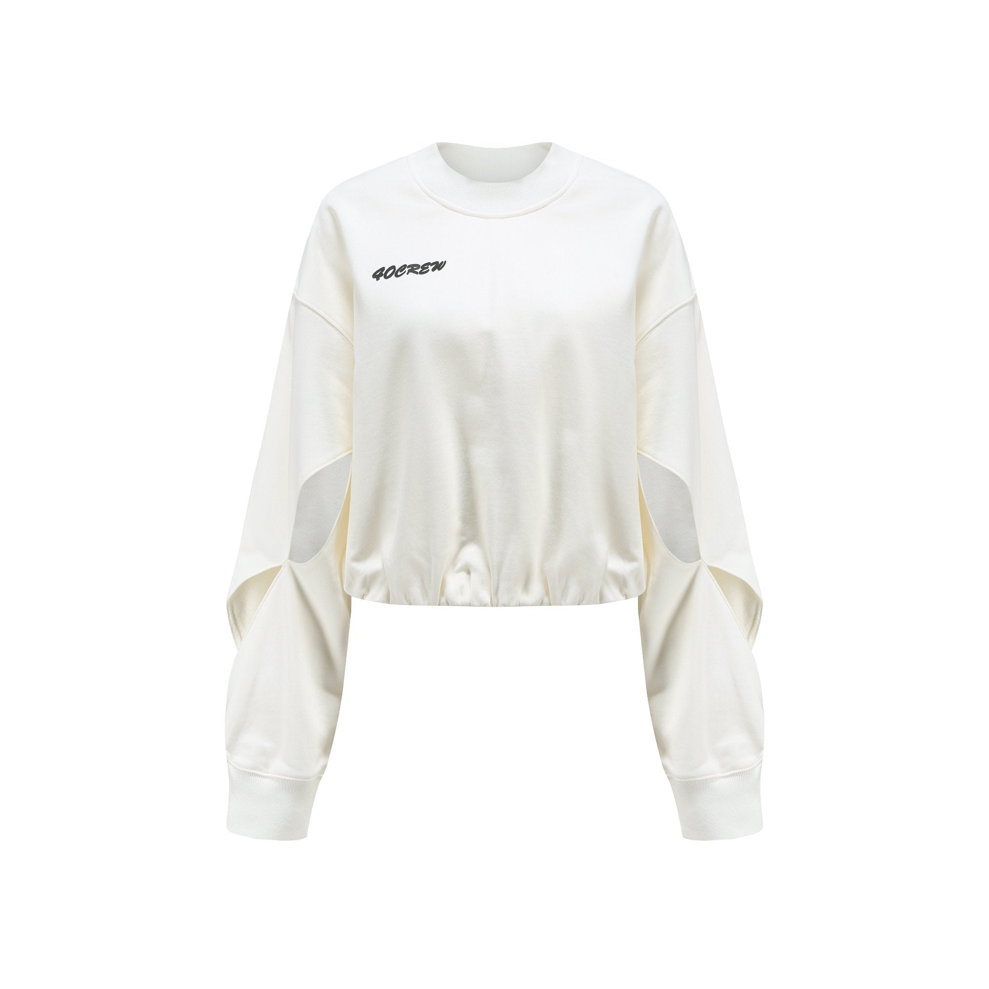 40 CREW White Split Sweatshirt | MADA IN CHINA