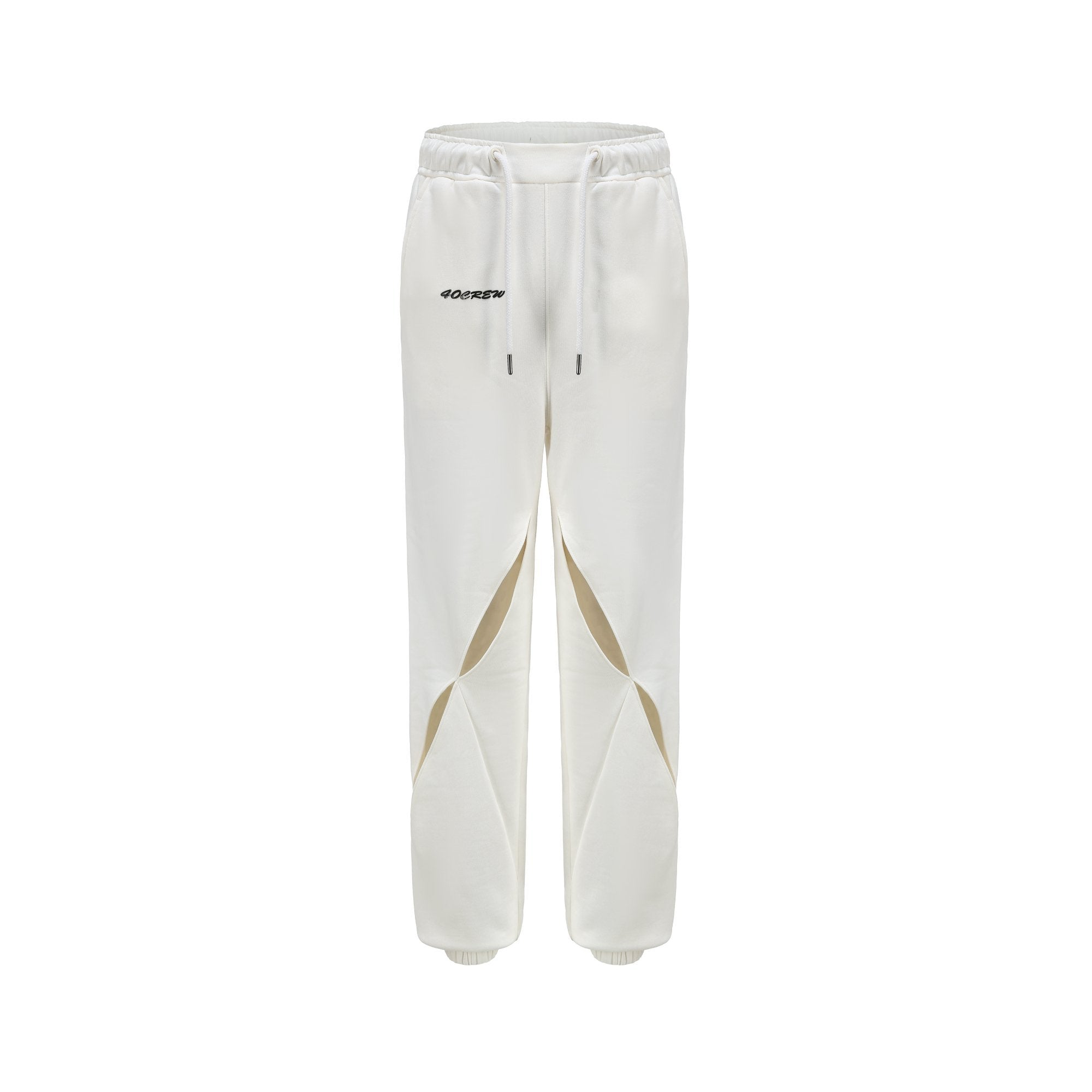 40 CREW White Split Track Pants | MADA IN CHINA