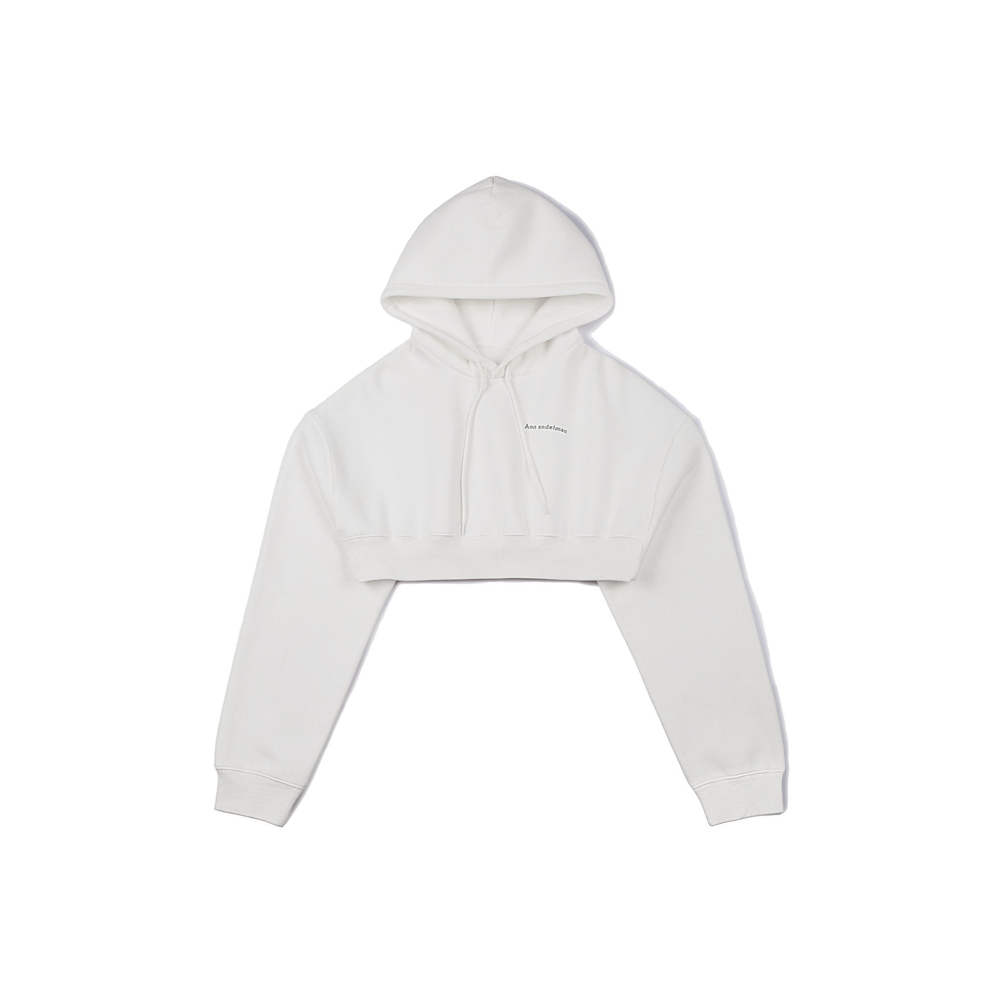 ANN ANDELMAN White Sport Hoodie | MADA IN CHINA