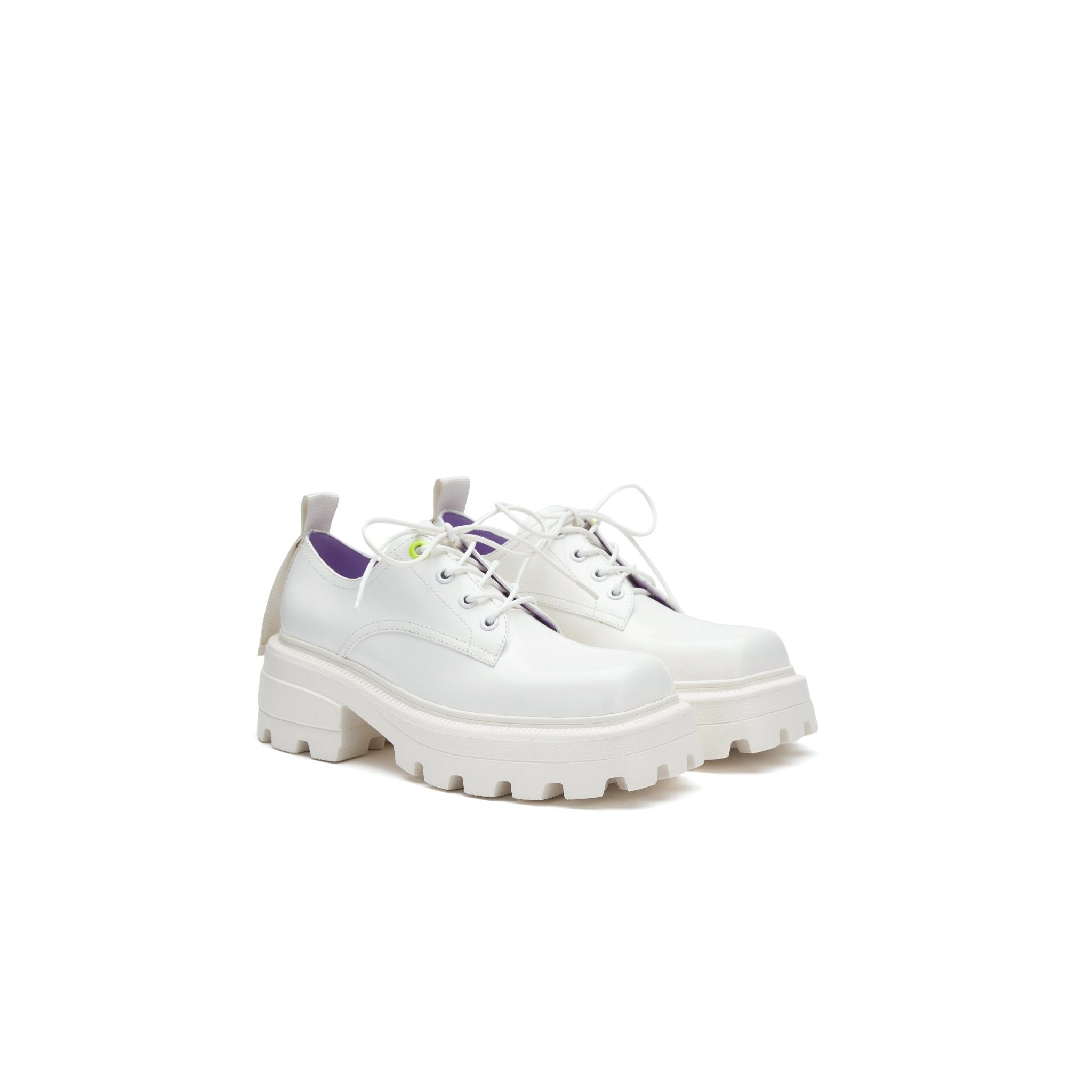 LOST IN ECHO White Square Toe Platform Shoes | MADA IN CHINA