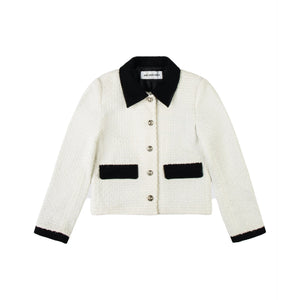 ANN ANDELMAN White Tweed Jacket | MADA IN CHINA