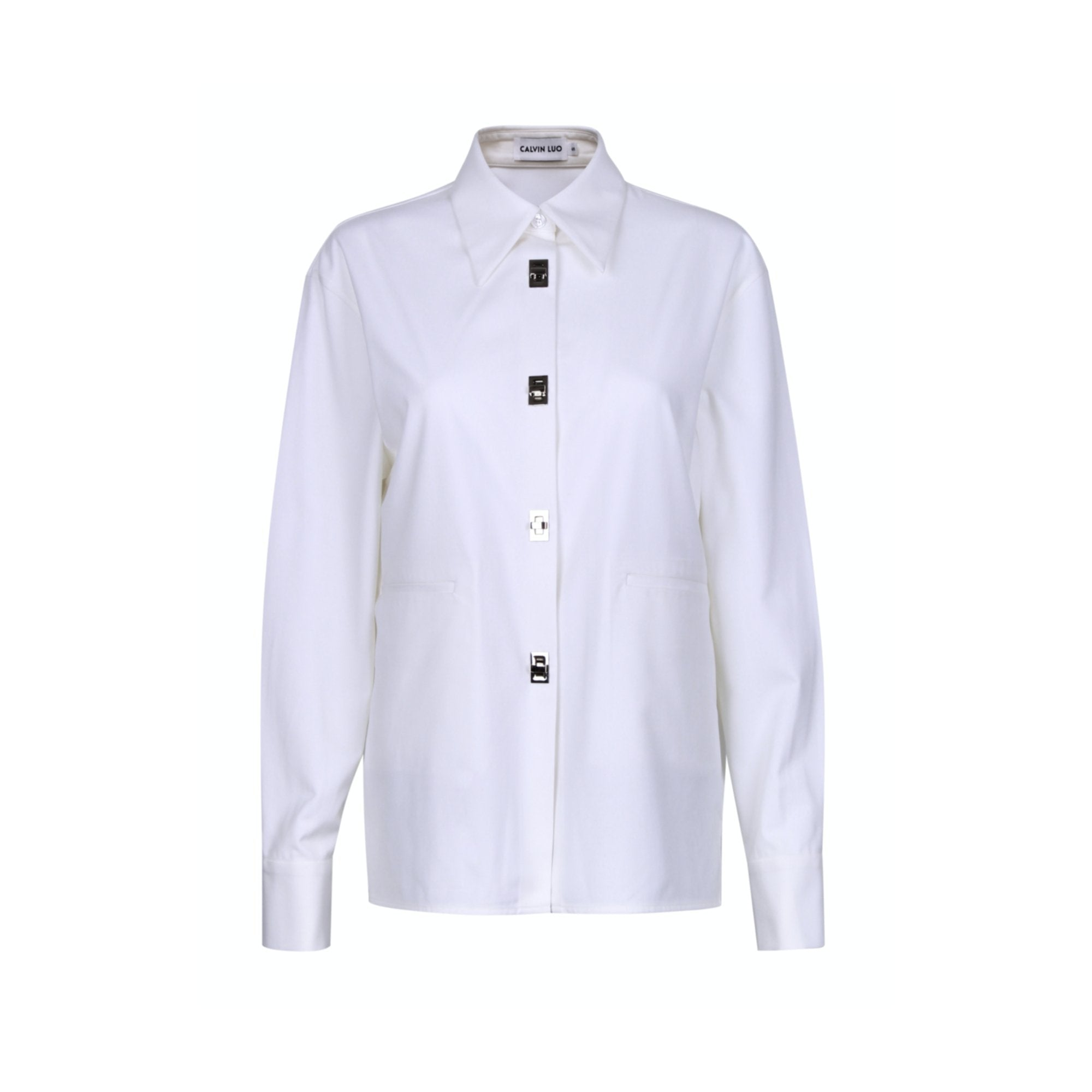 CALVIN LUO White Twist-Lock Shirt | MADA IN CHINA